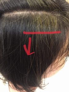 東京銀座くせ毛専門,ハナヘナのオレンジ色をインディゴで消す