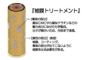 東京銀座くせ毛専門、被膜トリートメントとは
