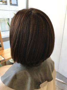 東京銀座くせ毛専門,40代女性のくせ毛、縮毛矯正後