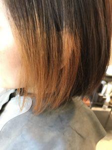東京銀座くせ毛専門,ブリーチ毛に縮毛矯正