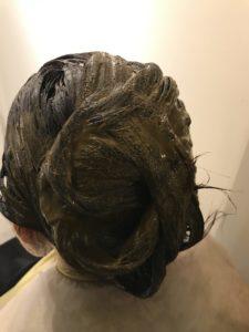 東京銀座くせ毛専門、根本カラーとハナヘナ