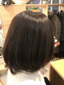 東京銀座くせ毛専門,根本白髪染め、毛先ハナヘナでトリートメント