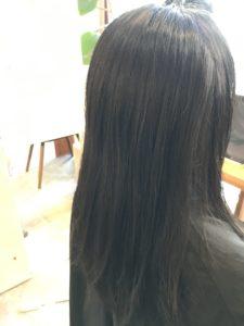 東京銀座くせ毛専門,太くて硬い髪の女性