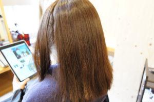 東京銀座くせ毛専門,縮毛矯正と白髪染めの同日背術前