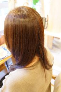 東京銀座くせ毛専門,縮毛矯正を表面だけにかけた仕上がり