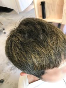 東京銀座くせ毛専門,ハナヘナ、ハーバルブラウンの色