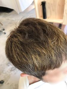 東京銀座くせ毛専門,ヘナの発色後の色味
