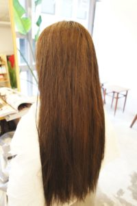 東京銀座くせ毛専門,ロングヘアのくせ毛、アホ毛、ポヤ毛が気になる髪