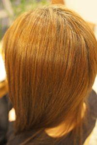 東京銀座くせ毛専門,縮毛矯正でアホ毛が無くなってまとまるツヤ髪
