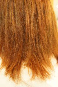 東京銀座くせ毛専門,縮毛矯正の失敗でチリチリ、ビビリ毛