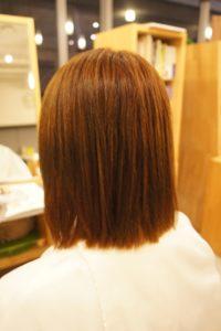 東京銀座くせ毛専門,縮毛矯正失敗髪を修繕。ビビリ直し