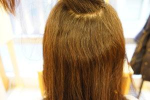 東京銀座くせ毛専門,前回の縮毛矯正から半年たった髪