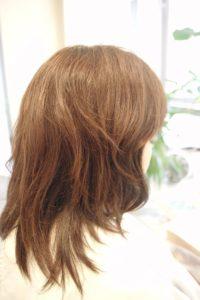 東京銀座くせ毛専門,ツヤはあるがボリュームが出る髪質
