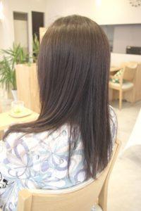 東京銀座くせ毛専門,縮毛矯正後、乾かすだけでまとまるツヤ髪