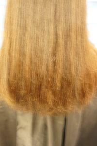 東京銀座くせ毛専門、トリートメントで傷んだ髪