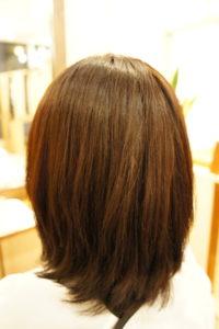 東京銀座くせ毛専門、縮毛矯正施術後
