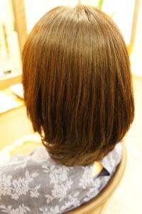 東京銀座くせ毛専門、縮毛矯正の施術後