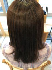 東京銀座くせ毛専門、縮毛矯正でツヤ髪完成