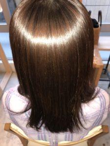 東京銀座くせ毛専門、縮毛矯正でツヤツヤ髪