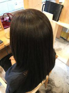 東京銀座くせ毛専門、40代女性縮毛矯正後の艶髪