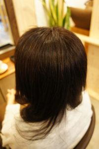 東京銀座くせ毛専門、縮毛矯正と毎月白髪染めの40代女性
