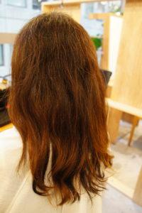 東京銀座くせ毛専門、40代女性、くせでツヤのない髪