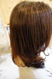 東京銀座くせ毛専門、40だい女性、縮毛矯正と毛先デジタルパーマ