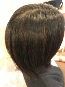 東京銀座くせ毛専門。30代女性の明るめカラー毛に縮毛矯正