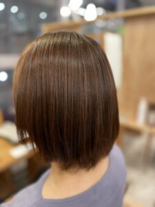 東京銀座細い髪への縮毛矯正