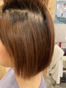 東京銀座細くて明るいカラー毛への縮毛矯正