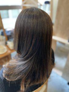 東京銀座 ブリーチ毛に縮毛矯正をかける