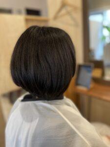 東京銀座ショートヘアに縮毛矯正