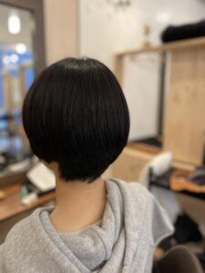 東京銀座 ショートヘアに縮毛矯正